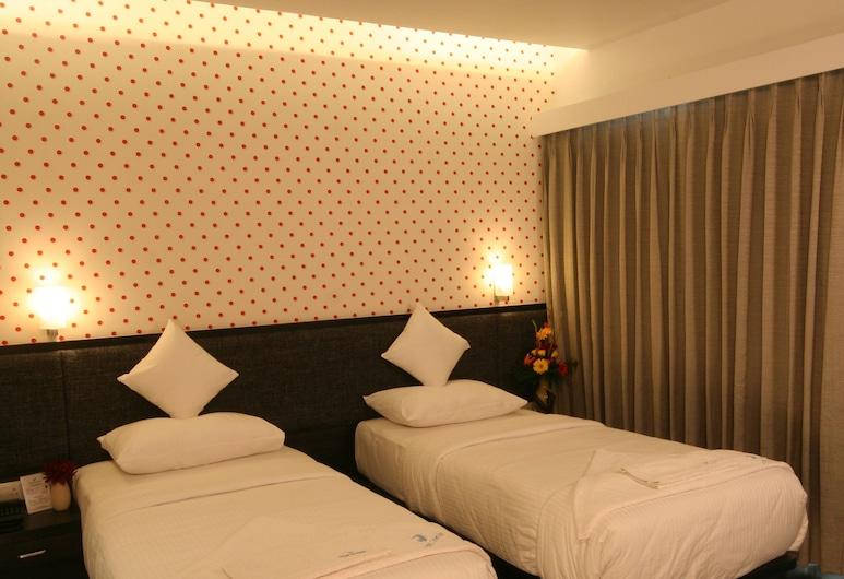 GRANVILLE HOTEL, Mumbai, Deluxe dubbelrum eller tvåbäddsrum - icke-rökare - utsikt mot staden, Gästrum