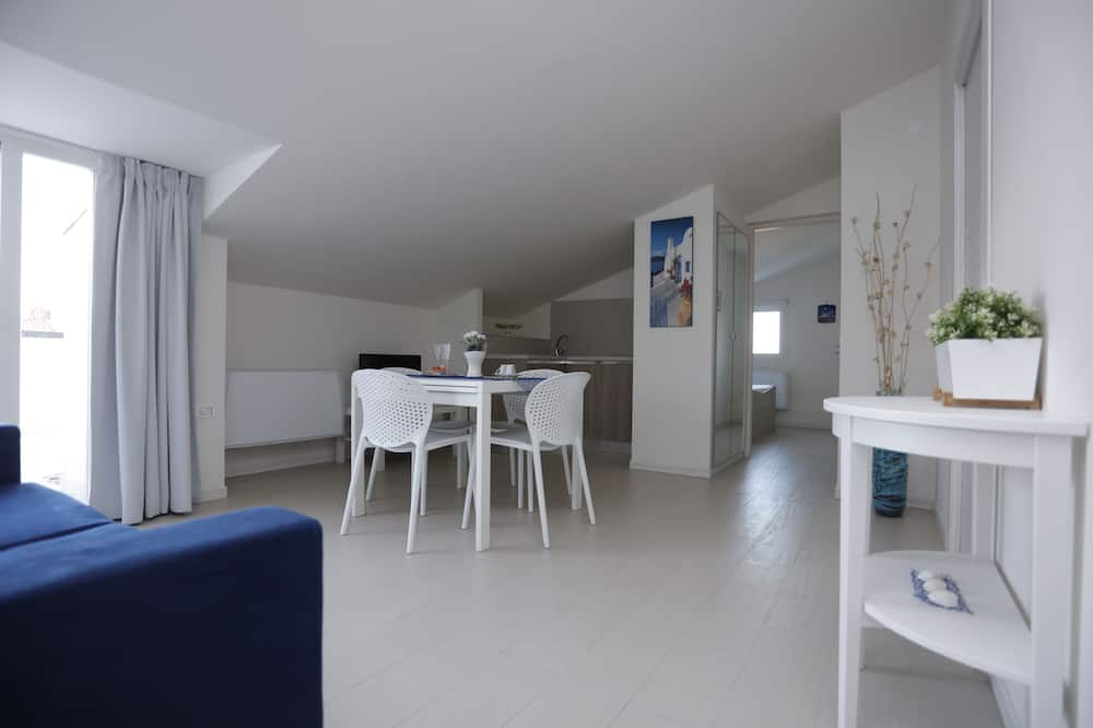 Suite Junior, terrazzo, vista mare - Area soggiorno