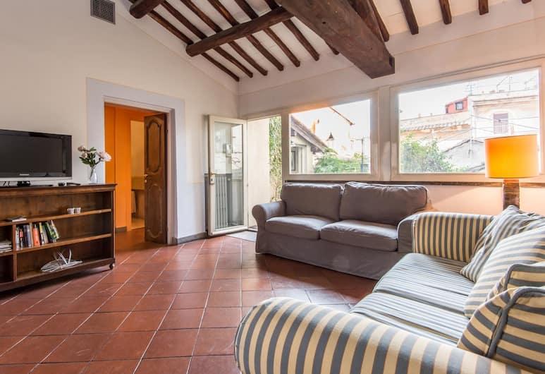 RSH Campo de Fiori Luxury House, Rome, apartman, 4 hálószobával, Nappali rész