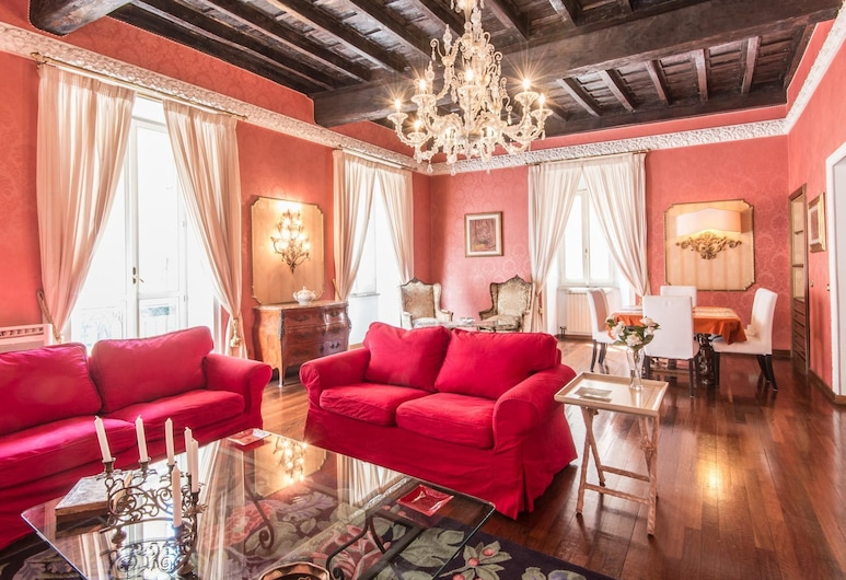 RSH Spanish Steps Luxury Apartment, Rome, Deluxe külaliskorter (4 Bedrooms), Lõõgastumisala