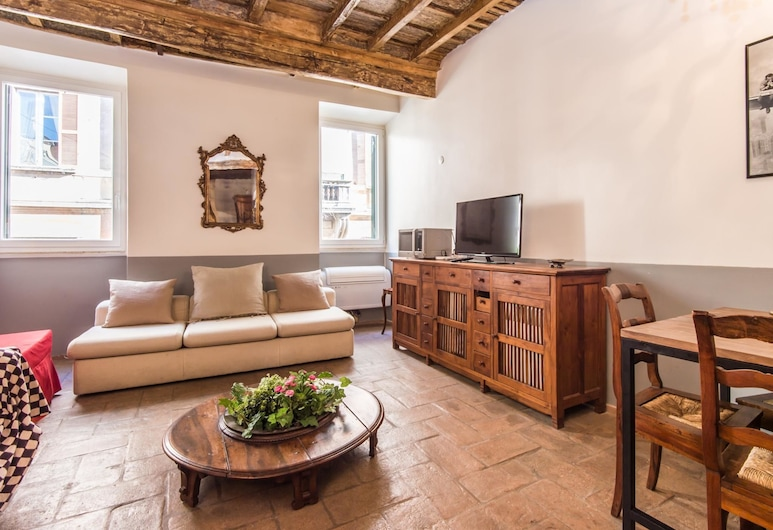 RSH 納沃納廣場奢華 1 房公寓酒店, Rome, 公寓, 1 間臥室, 客廳
