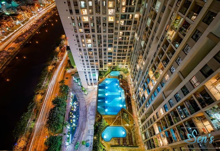 センス ハウス 2 - ザ ゴールド ビュー アパートメンツ, ホーチミン, スーペリア アパートメント 2 ベッドルーム プールアクセス シティビュー, シティ ビュー