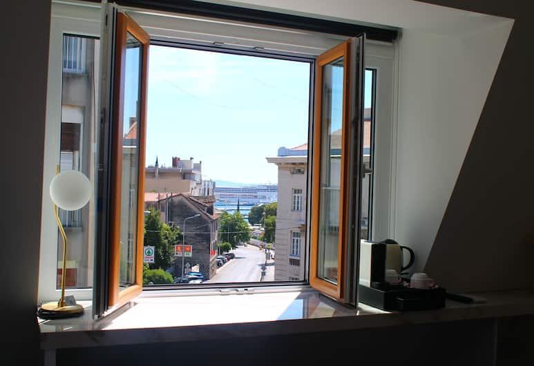 Flos Luxury Rooms, Split, Deluxe-Doppelzimmer, Meerblick, Ausblick vom Zimmer