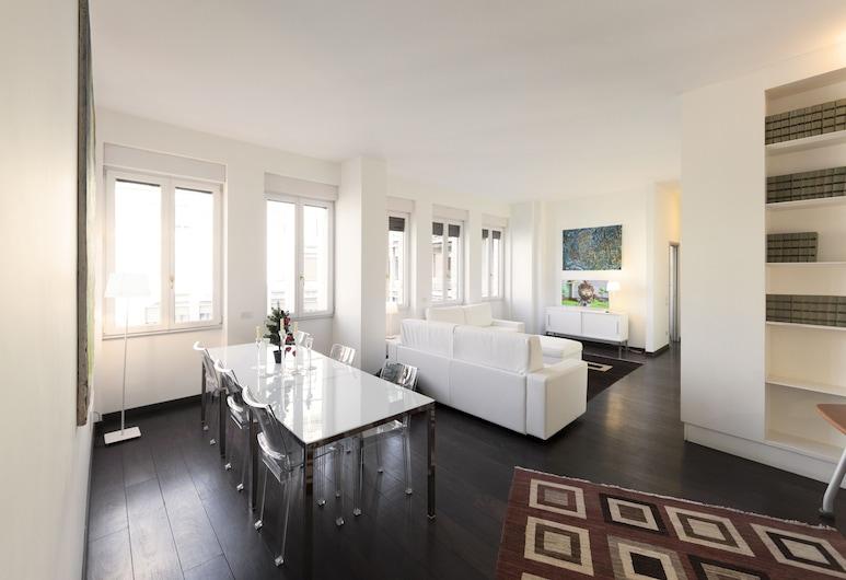 Milhouse Suites Sant'Ambrogio, Μιλάνο, Διαμέρισμα, 2 Υπνοδωμάτια, Θέα στην Πόλη, Περιοχή καθιστικού