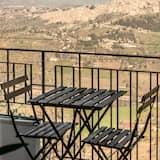 Deluxe-lejlighed - 1 queensize-seng - balkon - bjergudsigt (Euno) - Altan