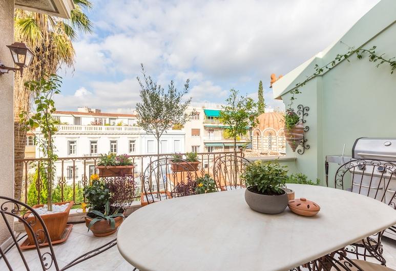 Ηλιόλουστο πολυτελές διαμέρισμα με 2 υ/δ και 2 μπάνια στην Αθήνα, Αθήνα, Γεύματα σε εξωτερικό χώρο