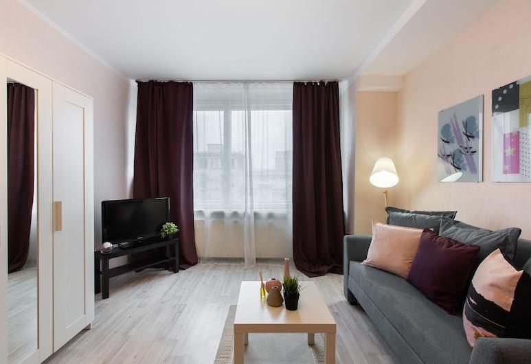 GoodAps New Arbat 26, Moscow, Apartment, City View, Living Area