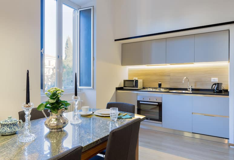Rome as you feel - Large Design Apartment Mazzini, Roma, Appartamento, 2 camere da letto, Cucina privata