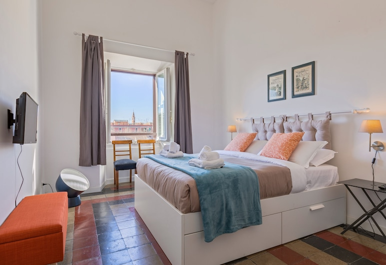 感受羅馬 - 但丁頂層房大陽台景觀酒店, 羅馬, 公寓, 2 間臥室, 客房