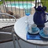 Deluxe-Maisonette, 3Schlafzimmer, Poolblick (Tiffany) - Balkon