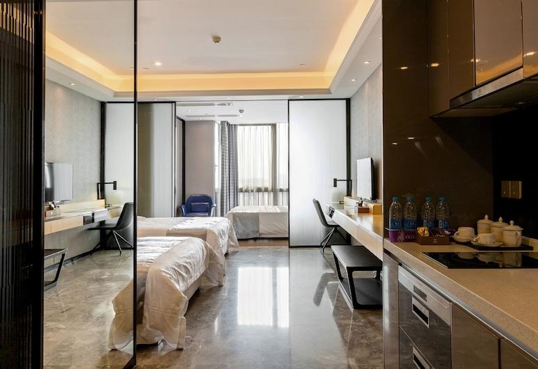 Pengman Beijing Rd Apartment, Guangzhou, Deluxe trokrevetna soba, Soba