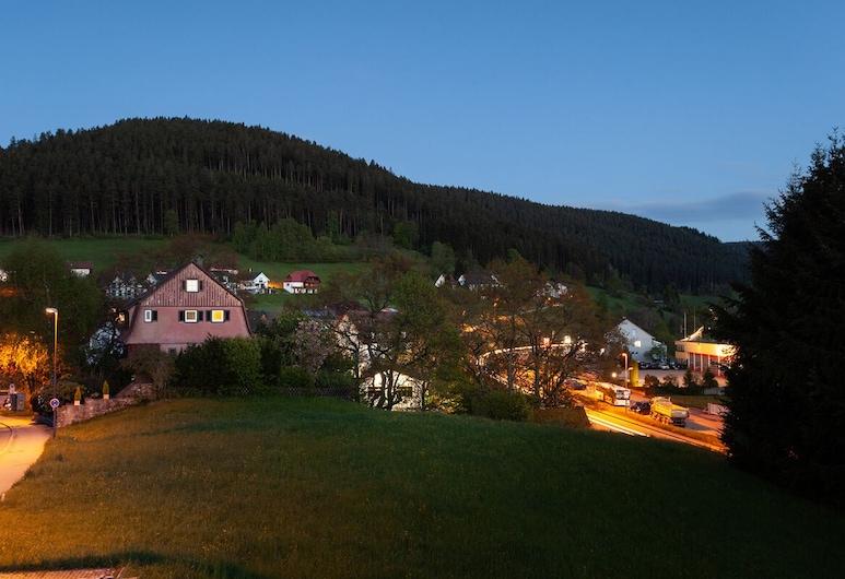 Hotel Petra, Baiersbronn, Izba typu Business, 1 veľké dvojlôžko, nefajčiarska izba, výhľad na hory, Terasa