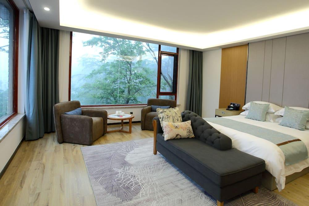 Habitación Deluxe doble, vistas a la montaña - Zona de estar