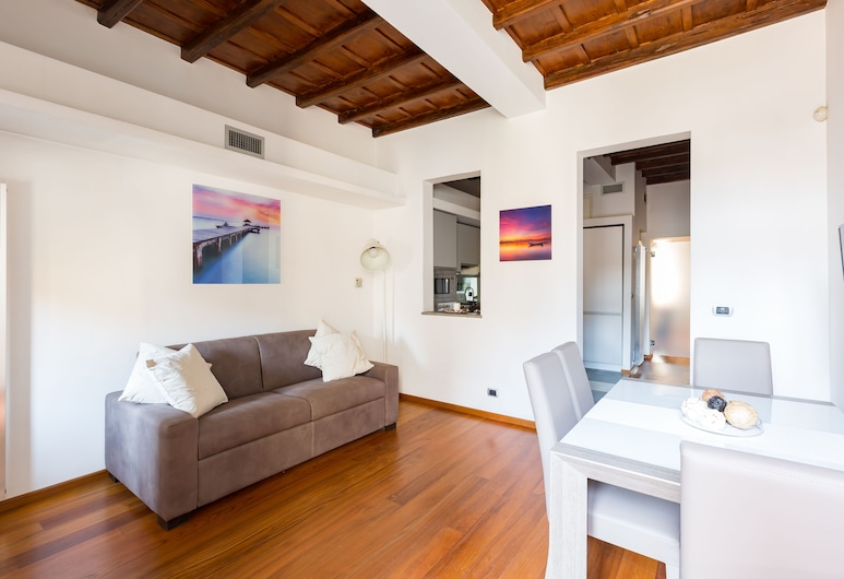 The Hide Trastevere, Rome, Apartment, 1 Bedroom, Living Room