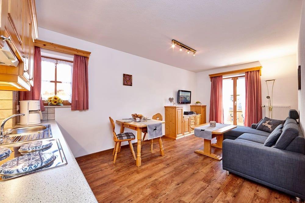 Apartamentai, 1 miegamasis, balkonas (Fewo 1) - Svetainės zona