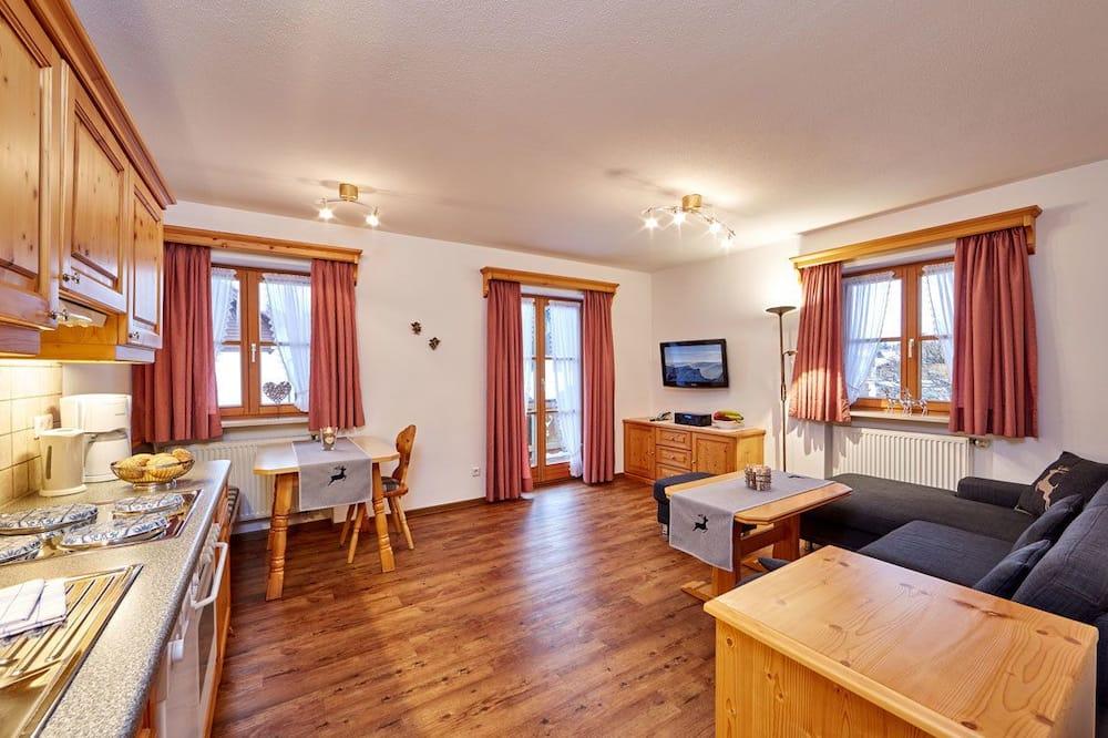 Apartamentai, 1 miegamasis, balkonas (Fewo 2) - Svetainės zona