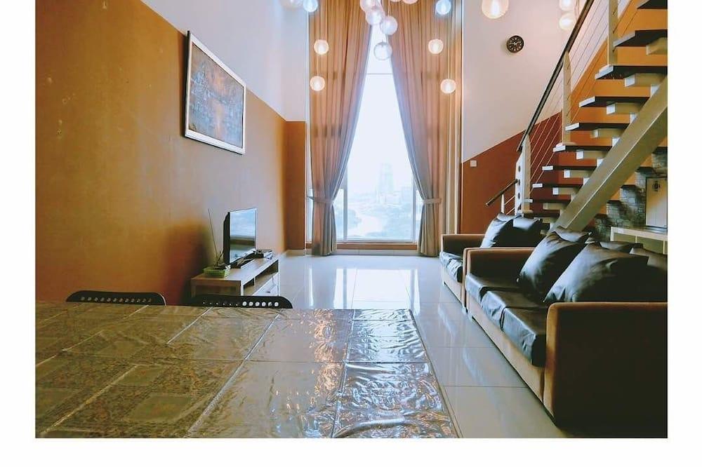 經濟開放式客房, 多張床 - 客廳
