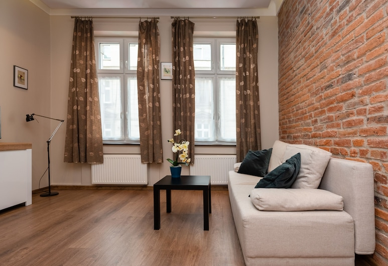 Wawel Apartments - Jewish District, Krakow, Premium Suite, 2 Bedrooms (with Old Town View -Bochenska St.#44), Living Area