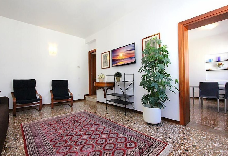 City Apartments - Residence Marina, Venedig, Apartment, 2Schlafzimmer, Stadtblick, Wohnbereich