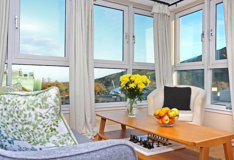 Edinburgh Arthur Seat View Apartment, Edinburgh, Superior appartement, 2 slaapkamers, uitzicht op bergen, Woonruimte
