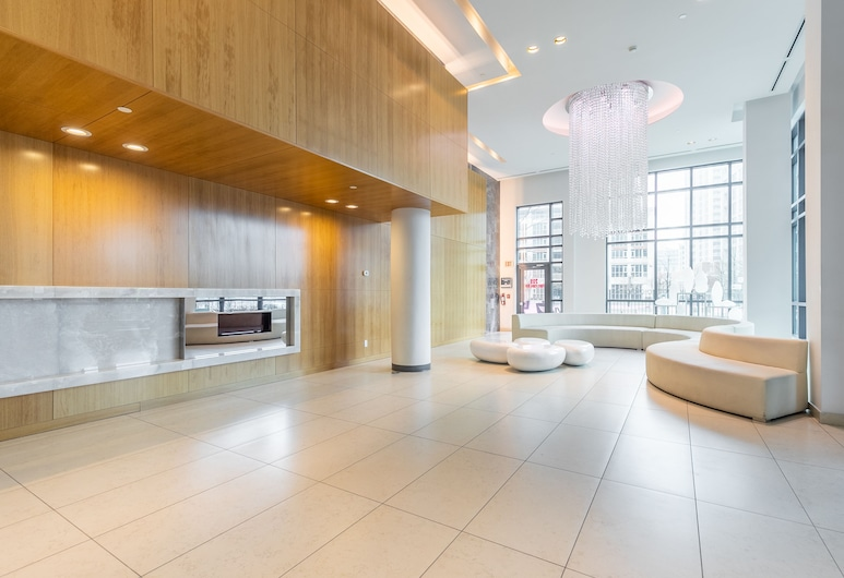 Simply Comfort. Fort York Apartments, Toronto, Lobby