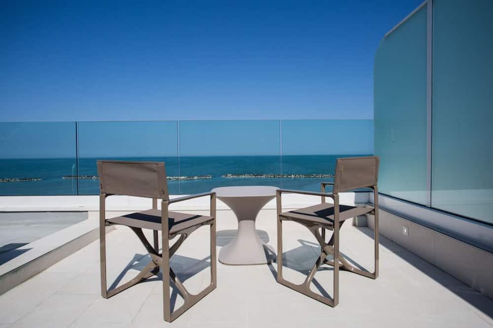 豪華套房, 海景 - 陽台