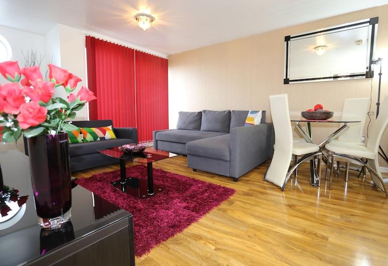 2 Beds Riverview HillHouse Apartment, Londýn, Apartmán, viacero postelí (3rd Floor), Obývacie priestory