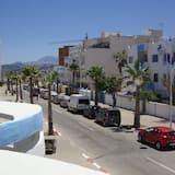 Výhľad na mesto z ubytovacieho zariadenia