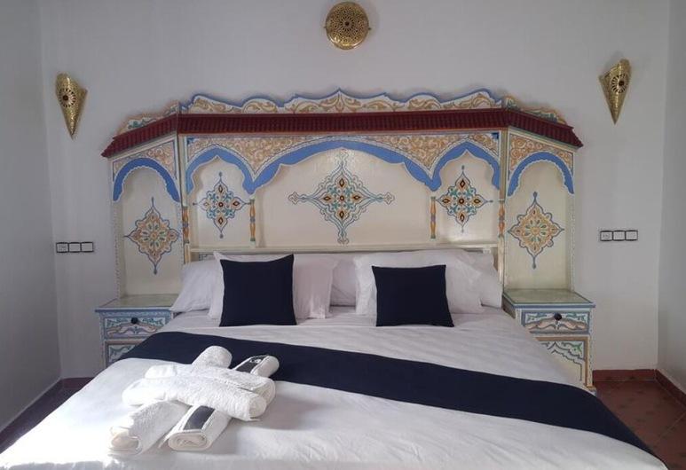 Casa El Haouta, Chefchaouen, Trivietis kambarys šeimai, Svečių kambarys