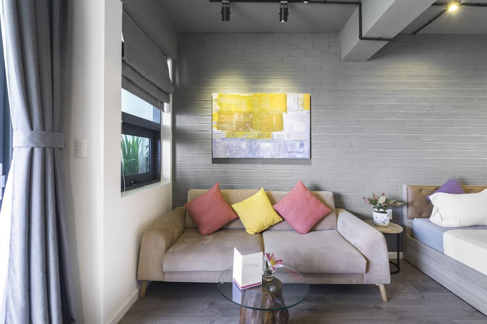 Studio Deluxe, balcon - Coin séjour