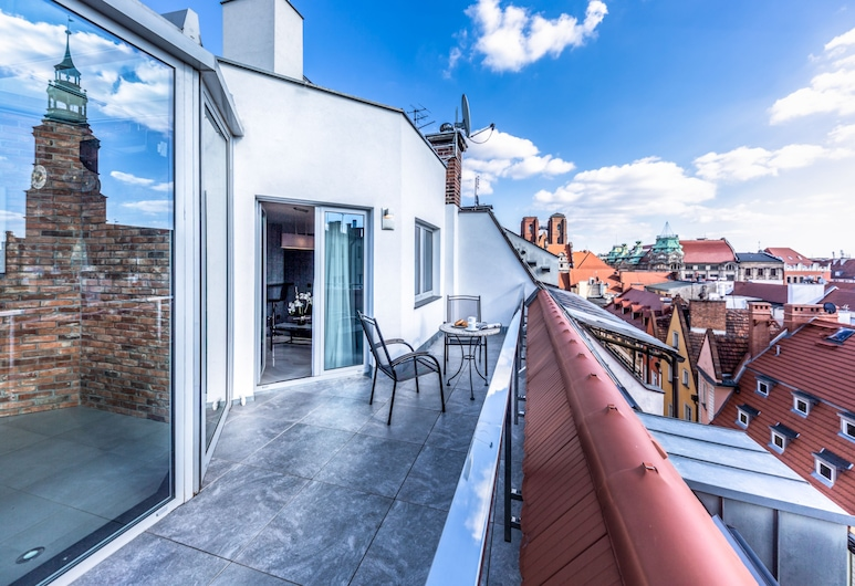 Aparthotel New Lux, Wroclaw, Royal Apartment, 2 Bedrooms, Terrace, City View, Terrace/Patio