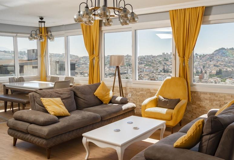 Kusadasi Rezidans, Kuşadasi, Deluxe loft, pogled na more, Dnevni boravak