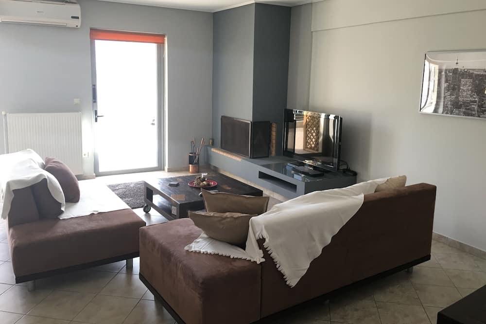 Apartamento, 2 quartos (Acropolis View) - Área de estar