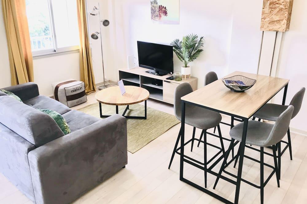 Appartement Ville, 1 lit double et 1 canapé-lit, vue montagne (1 Bedroom) - Coin séjour