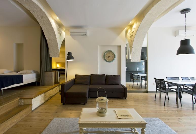 RVA 大教堂公寓酒店, 波多, 豪華公寓, 2 間臥室, 客廳
