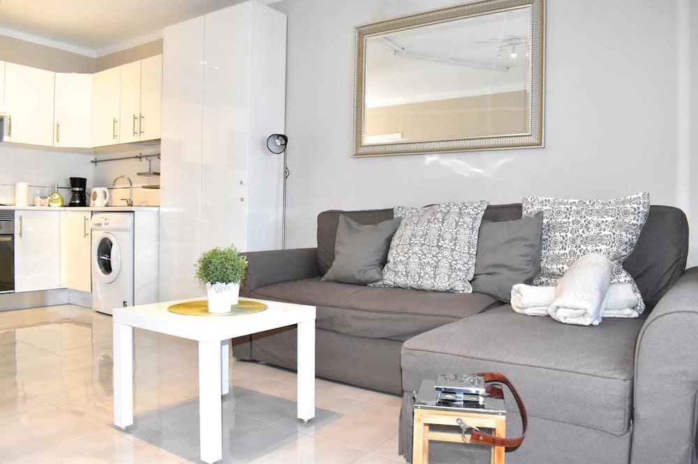 Apartmán, 1 spálňa, balkón, čiastočný výhľad na oceán - Obývačka