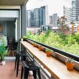 Signature appartement, 2 queensize bedden, Uitzicht op de stad - Balkon