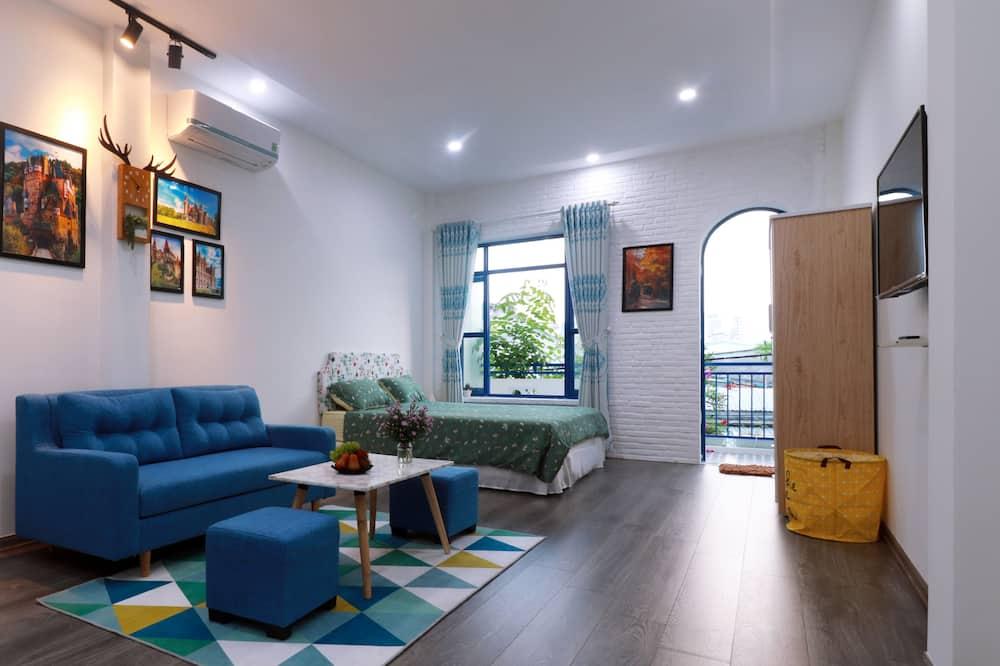 Studio, balcon - Coin séjour