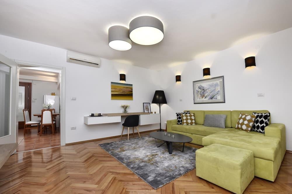 apartman, 1 queen (nagyméretű) franciaágy - Nappali rész