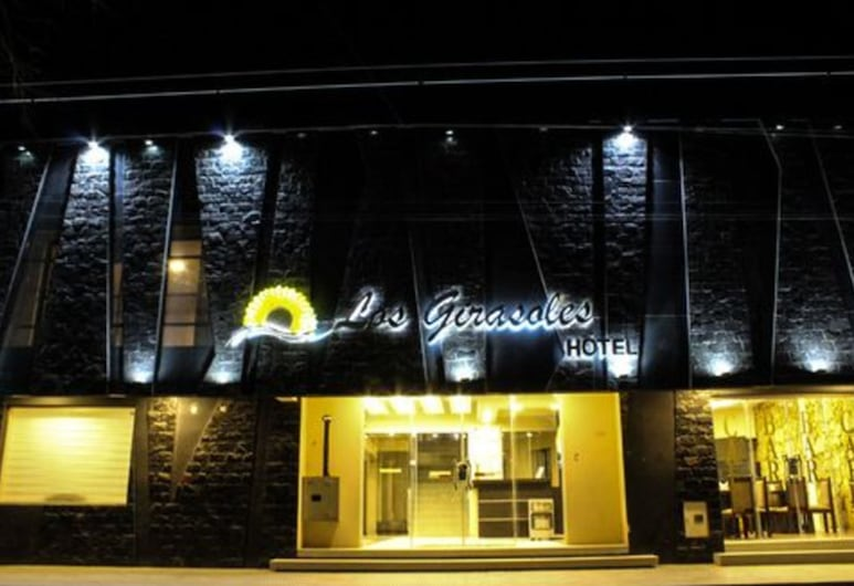 Los Girasoles Hotel, Uyuni, Hotel Front – Evening/Night