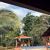 Standartinio tipo namas, vaizdas į kiemą - Vaizdas į sodą