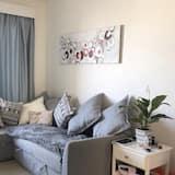 Apartament, Łóżko king i sofa - Salon