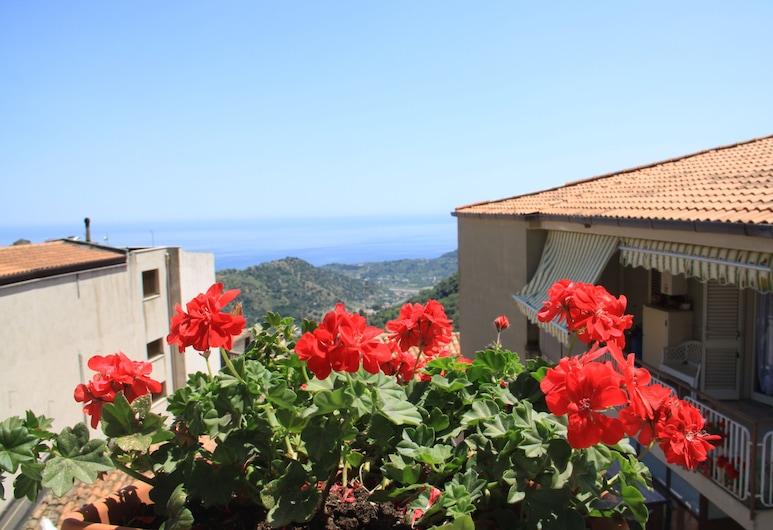 雙西西里魅力宅邸酒店, Casalvecchio Siculo, 普通開放式套房, 1 張加大雙人床, 部分海景, 客房