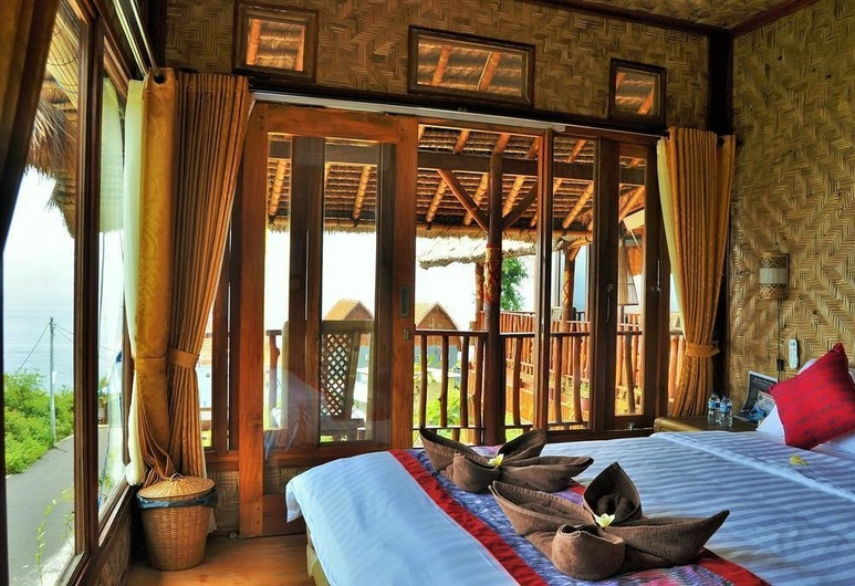 Gentari Homestay, Penida Island, חדר דה-לוקס טווין, נוף לים, חדר אורחים
