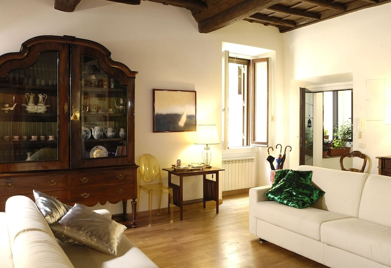RSH 特拉斯提弗列 2 房奢華設計酒店, Rome, 客廳