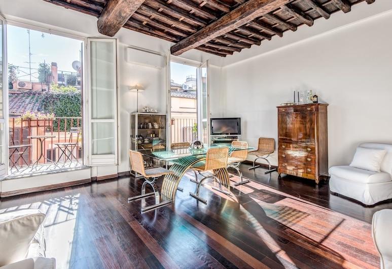RSH Luxury Spanish Steps Terrace, Rome, Apartment, 3 Bedrooms, Ruang Tamu