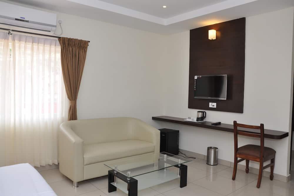 Luxe suite, Uitzicht op de stad - Woonruimte