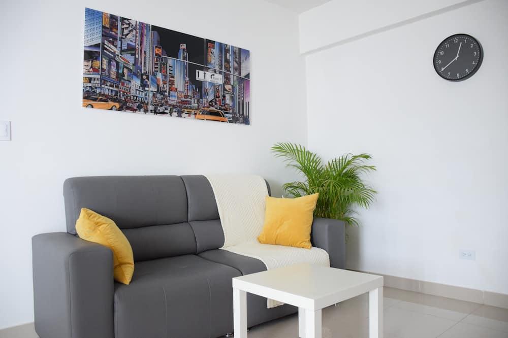 Departamento Confort, vista a la ciudad - Sala de estar