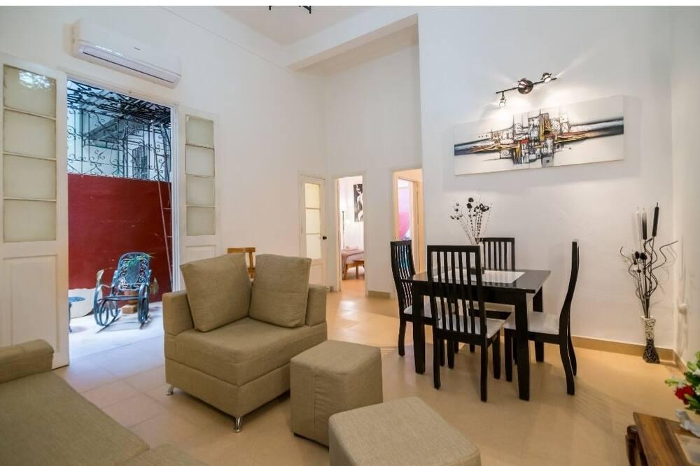Liukso klasės apartamentai - Svetainės zona