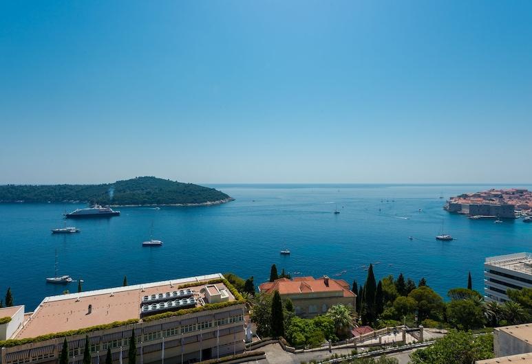 Apartments Horizon, Dubrovnik, Estúdio luxo, Sacada, Vista para o mar, Quarto